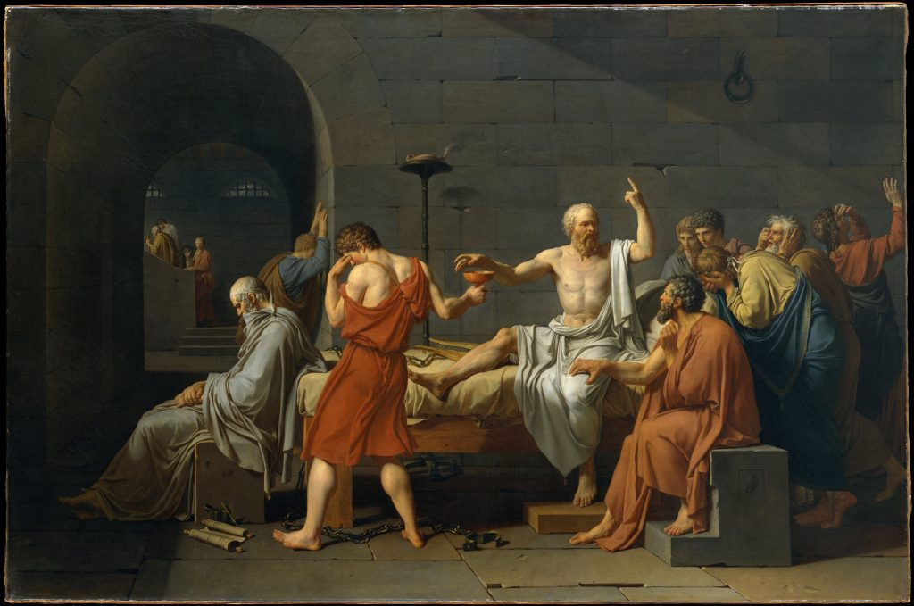 Works of Art that Shaped the World TV series- Death of Socrates by Jacques-Louis David
